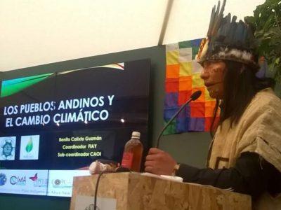 Luis Tayori: Fondos Climáticos deben llegar a pueblos indígenas de la Amazonía
